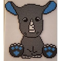 Rhino hama beads by misscarstensen - Pattern: https://de.pinterest.com/pin/374291419013031080/