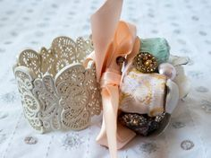 Floral Wrist Corsage & Brooch SVCS102 by LittleSilverSixpence
