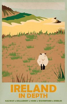 A Lovely Vintage with a sheep curiously looking the other way by Brittany Armington