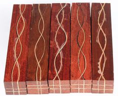 Segmented Serpentine Blanks - Red Heart With Maple Veneers