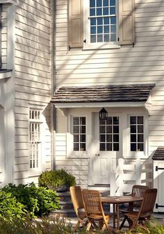 Portico and shutters