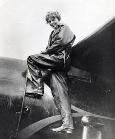 Amelia Earhart, the first women to fly solo across the Atlantic and a supporter of women's rights.  http://www LiveALifeWithoutLimits.com