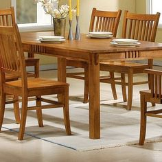 Coaster 100621 Mission Style Dining Table, Burnished Oak Solid Hardwood. Very durable and comfortable.