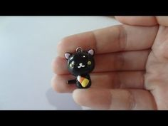 Halloween tutorial: Black Kitty with candy corn - YouTube