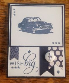 "Tim Holtz's ""Now and Then"" Stamp Set PTI's ""Stylish Sentiments"" Birthday"" Sue's Stamping Station"
