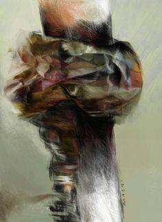 "Saatchi Art Artist Masri Hayssam; Drawing, ""New Expression #33"" #art"