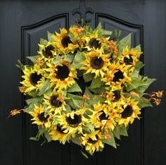 Sunflower Wreath, love it