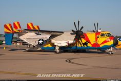 """C-2C Greyhound from VRC-40 """"Rawhides"""" with a colorful scheme to commemorate the squadron's 50 years of fleet logistics support during NAS Oceana Airshow 2010 - Photo taken at Virginia Beach - Oceana NAS / Apollo Soucek Field (NTU / KNTU) in Virginia, USA on September 19, 2010."""