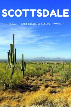 2 trails for easy hiking and biking in Scottsdale, Arizona --- enjoy gorgeous scenery while getting some excercise in the Sonoran Desert. @experiencescottsdale #absolutelyscottsdale
