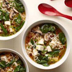 Tofu Ramen Soup with Spinach Recipe