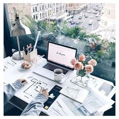 Office spaces ❤ liked on Polyvore featuring home and home decor