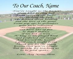 Coach Thank You Poster  Appreciation Poem And Coach Gifts