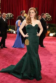 Pin for Later: 85 Unforgettable Looks From the Oscars Red Carpet Amy Adams at the 2008 Academy Awards Amy Adams looked divine in green Proenza Schouler in 2008.