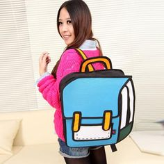 2b4e0203c19f Blue School Style - 2D Bag
