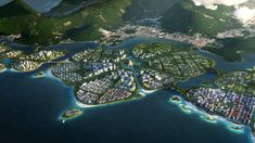 BIG, Hijjas and Ramboll selected as winners of the Penang South Islands Design Competition George Town, Win Competitions, Design Competitions, Masterplan, Penang Island, Eco City, Mangrove Forest, Sustainable City, Water Resources