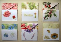 Make Envelopes Out of Calendar Pictures 1. Take an envelope of any size, carefully unglue the edges and open it up to a flat position. Read more:http://www.motherearthliving.com/in-the-garden/herbal-crafts-new-uses-old-calendars.aspx#ixzz2hx2LaWZJ