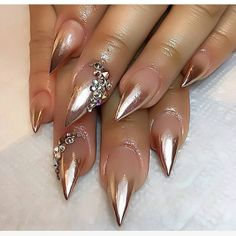Gucci Nails for sale Sexy Nails, Fancy Nails, Cute Nails, Pretty Nails, Fabulous Nails, Perfect Nails, Gorgeous Nails, Chrome Nails, Gold Nails
