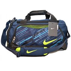 Nike Max Air Blue and Green Tarpaulin Small Duffel at OrlandoTrend.com   OrlandoTrend Tarpaulin a5e21f28cd7c0