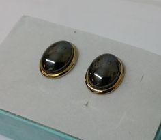 Ohrringe Ohrstecker Silber vergoldet Hämatit SO207 von Schmuckbaron