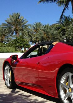 Is there really a better sight on #FerrariFriday than a classic red Ferrari 458 spider with the roof down and blazing blue sky? Hit the image to see more stunning pics.