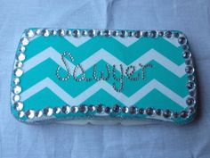 Blue Chevron Bling Travel Wipe Case by BsBoutiqueByChelsea on Etsy, $12.00