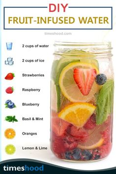 DIY Fruit-Infused Detox Water Recipes for Weight Loss & Glowing Skin - Juice . wall decor DIY Fruit-Infused Detox Water Recipes for Weight Loss & Glowing Skin - Juice . Vegan Detox, Healthy Detox, Healthy Smoothies, Healthy Drinks, Healthy Water, Healthy Weight, Easy Detox, Infused Water Recipes, Fruit Infused Water