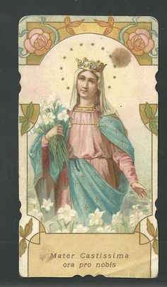 Prayer Before Sleep, Vintage Holy Cards, Christian Images, Blessed Virgin Mary, Prayer Cards, Blessed Mother, Mother Mary, Celestial, Holi