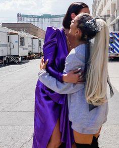 Ariana with Dua Lipa