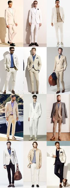 5 Key Men's Suit Styles For 2014 Spring/Summer: The Summer Neutral - Full Suit & Separates Lookbook Inspiration