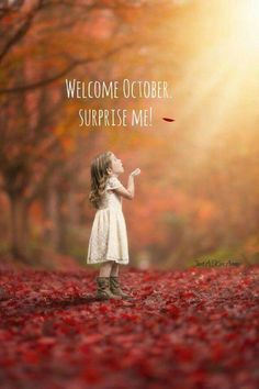 Welcome October Family Photography Outdoor Children Magical Leaf Whimsical