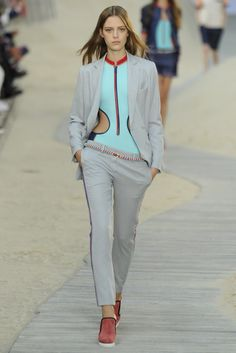 Tommy Hilfiger RTW Spring 2014. I like this look for the business causal, sporty feel.