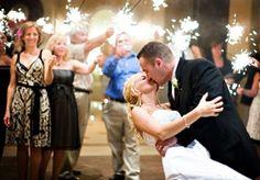 Fireworks during wedding reception!