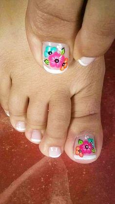 Fall Toe Nails, Pretty Toe Nails, Cute Toe Nails, Summer Toe Nails, Pretty Nail Colors, Toe Nail Art, Love Nails, Pedicure Designs, Manicure E Pedicure