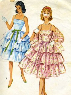 Vintage 1950s McCalls 5293 Junior Miss Layered by RomasMaison