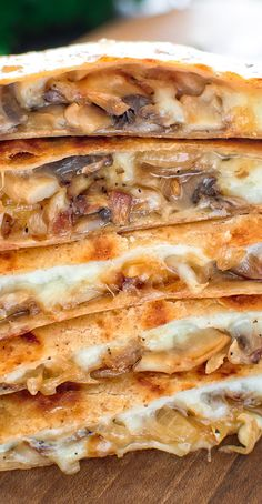 This scrumptious Mashed Potato and Mushroom. This scrumptious Mashed Potato and Mushroom Quesadilla is filled with caramelized onions mushrooms leftover mashed potatoes and gooey cheese. Seafood Recipes, Gourmet Recipes, Mexican Food Recipes, Vegetarian Recipes, Dinner Recipes, Cooking Recipes, Healthy Recipes, Vegetarian Lunch, Vegetarian Dinners
