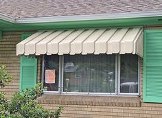 Spring is in air and slowly stepping in. It's best to clear your aluminum awnings to offer a transpa. Aluminum Window Awnings, Aluminium Windows, Door Canopy, Entrance Doors, Front Doors, Front Porch, Porch Lighting, Window Design, Window Coverings