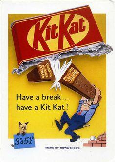 Vintage chocolate ad for Kit Kat