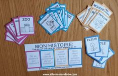 """Jeu """"J'invente une histoire"""" à imprimer! - Allo Maman Dodo Montessori Activities, Alphabet Activities, Social Emotional Activities, Learning Games For Kids, Cabin Floor Plans, French Classroom, Early Reading, Writer Workshop, Creative Activities"""