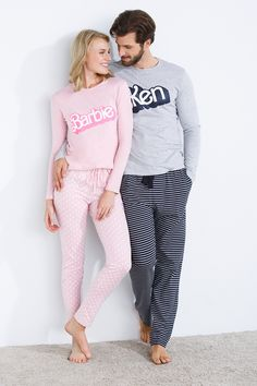 Barbie and Ken pajamas; Pyjamas, Bridal Nightwear, Pijamas Women, Couple Pajamas, Cute Sleepwear, Cute Pjs, Mode Chanel, Pajama Outfits, Looks Black