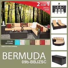Bermuda 20 Piece Outdoor Wicker Patio Furniture Package BERMUDA09bBBJZSC ** Find out more at the image link.