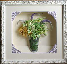 生徒のIさんの作品。紫の花はペップを使っています。