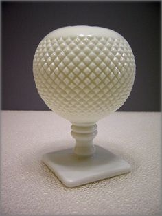 Westmoreland milk glass ball ivy vase