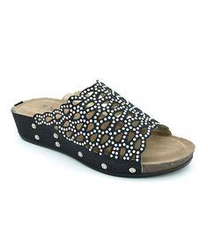 Love this Black Rhinestone Bead Sandal by John Fashion on #zulily! #zulilyfinds