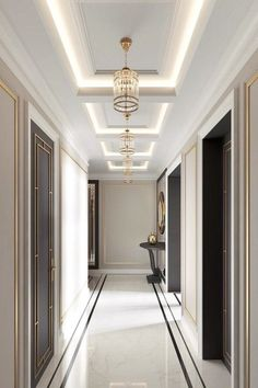 40 Astonishing Home Corridor Design For Your Home Inspiration 31 - grhaku House Ceiling Design, Ceiling Design Living Room, Home Room Design, Home Interior Design, House Design, Modern Ceiling Design, Plaster Ceiling Design, Gypsum Ceiling Design, Plaster Mouldings