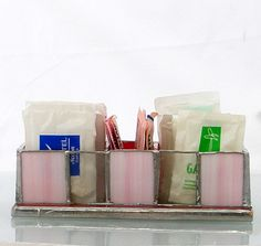 Storage Bin Organizer for small tea bag sugar and by Galleros, $34.00