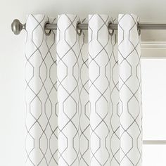 JCPenney Home Pasadena Embroidery Room Darkening Grommet-Top Curtain Panel, Color: Cool White - JCPenney Living Room Decor Curtains, Room Darkening Curtains, Elegant Curtains, Modern Curtains, Contemporary Curtains, Sheer Curtain Panels, Panel Curtains, Outdoor Drapes, Geometric Curtains