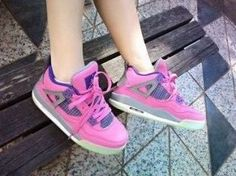 Nike Air Jordan 4 Pink  Purple