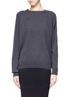 GIVENCHYSingle buttoned sleeve sweater
