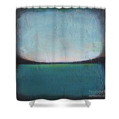 Ocean Shower Curtain featuring the painting Calm Ocean 1 by Vesna Antic