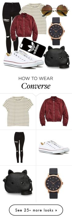 My Style by amyvanstein on Polyvore featuring Topshop, Monki, Converse, adidas, Loungefly and Marc Jacobs